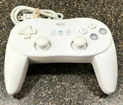 Genuine Nintendo Wii Classic Pro Controller RVL-005 White Official OEM Tested