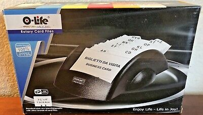 Rotary Business Card Files Alphabetic Labels New In Box O-life 2 78 X 4