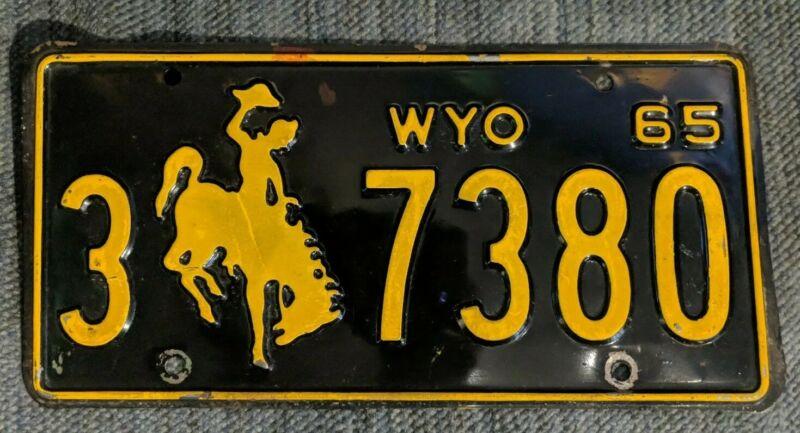 Original 1965 Wyoming License Plate