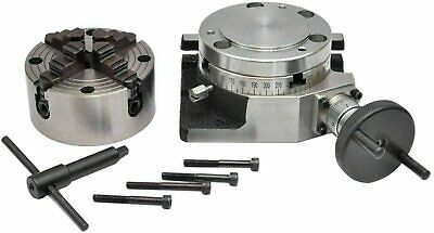 Rotary Table 4100mm With 100mm 4 Jaw Independent Chuck Backplate
