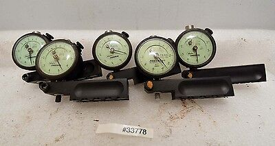 1 Lot Of 5 Mahr Federal 12i-rc-x Dial Indicators Inv.33778