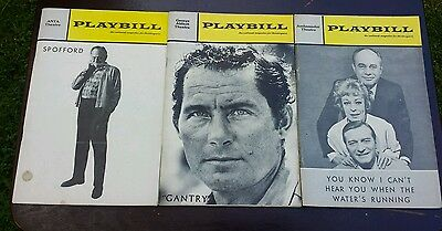 3 PLAYBILLS: GANTRY Flop 1/70 RARE,SPOFFORD 1/68,YOU KNOW I CAN'T HEAR YOU..5/67