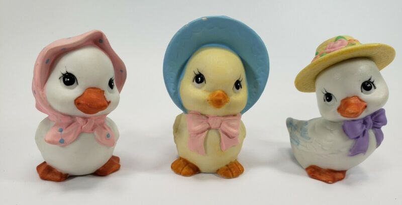 """Vintage Russ Bernie & Co """"Easter"""" Ceramic Chick Figurines - Cute and Adorable!!!"""