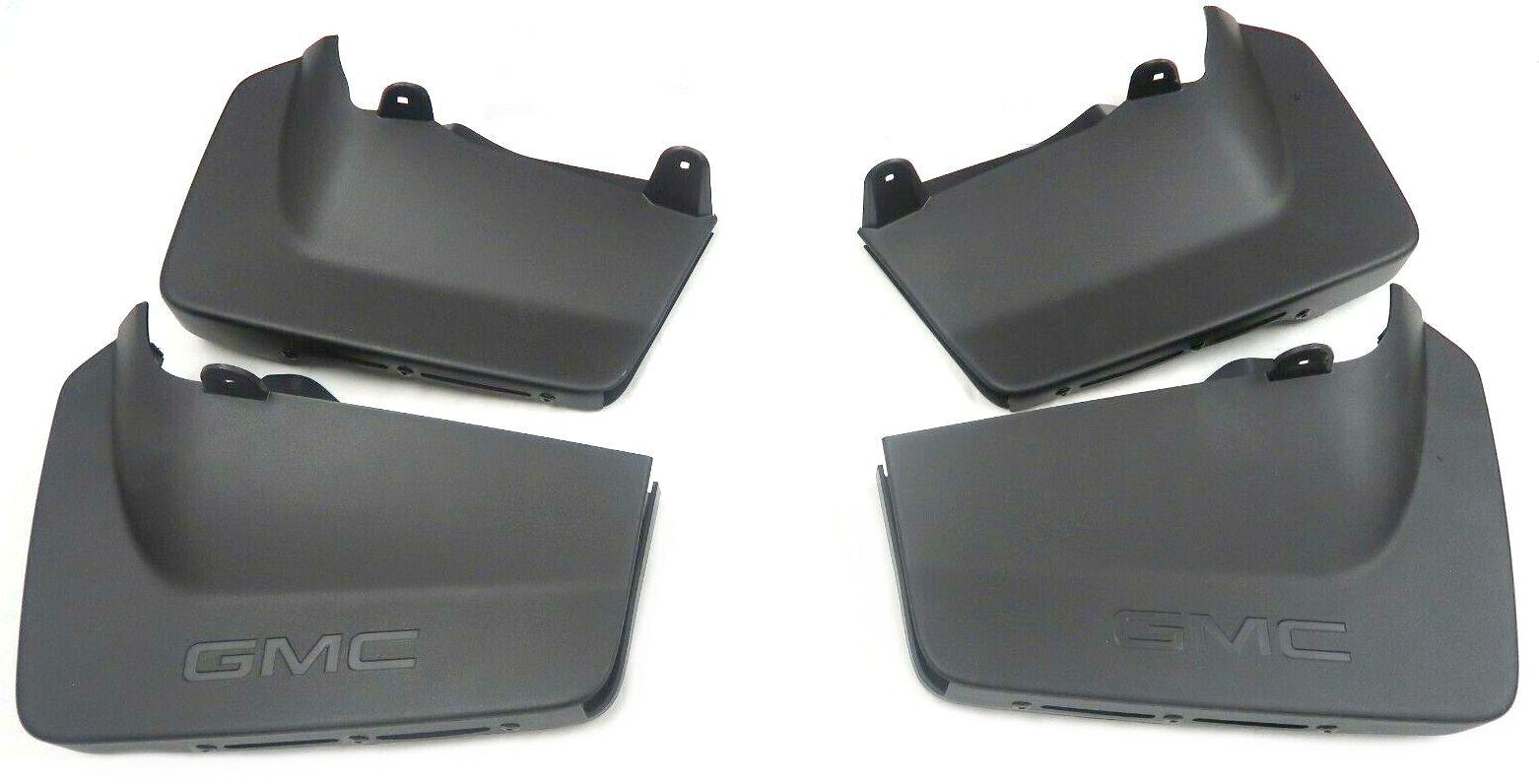 Next Gen Sierra HD OEM Front & Rear Matte Black Splash Guards NEW