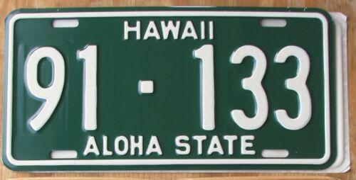 HAWAII ALOHA STATE HONOLULU / OAHU - truck license plate 1961  91-133