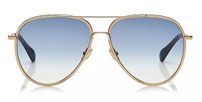 Jimmy Choo TRINY/S LKS Women Sunglasses Gold Blue Gradient Glitter Authentic (Jimmy Choo Glitter Sunglasses)