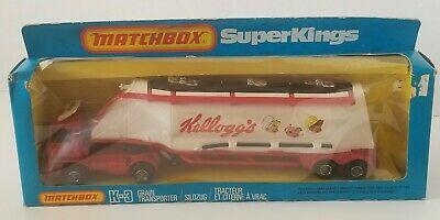 Vintage Matchbox Superkings Kellogg's Cereal Grain Transporter Truck NIB
