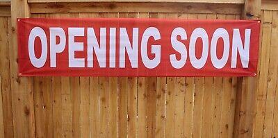 New Opening Soon Banner Now Open Store Restaurant 2x8 Feet Outdoor Vinyl Mesh