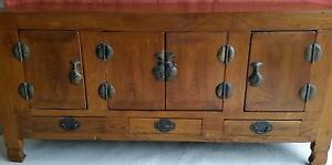 Antique Chinese Elm Sideboard Hamilton Newcastle Area Preview