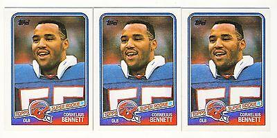 100ct Cornelius Bennett 1988 Topps Football Super Rookie Card Rc Lot 230 on Sale
