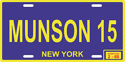 Thurman Munson New York Yankees 1968 rookie year metal License plate