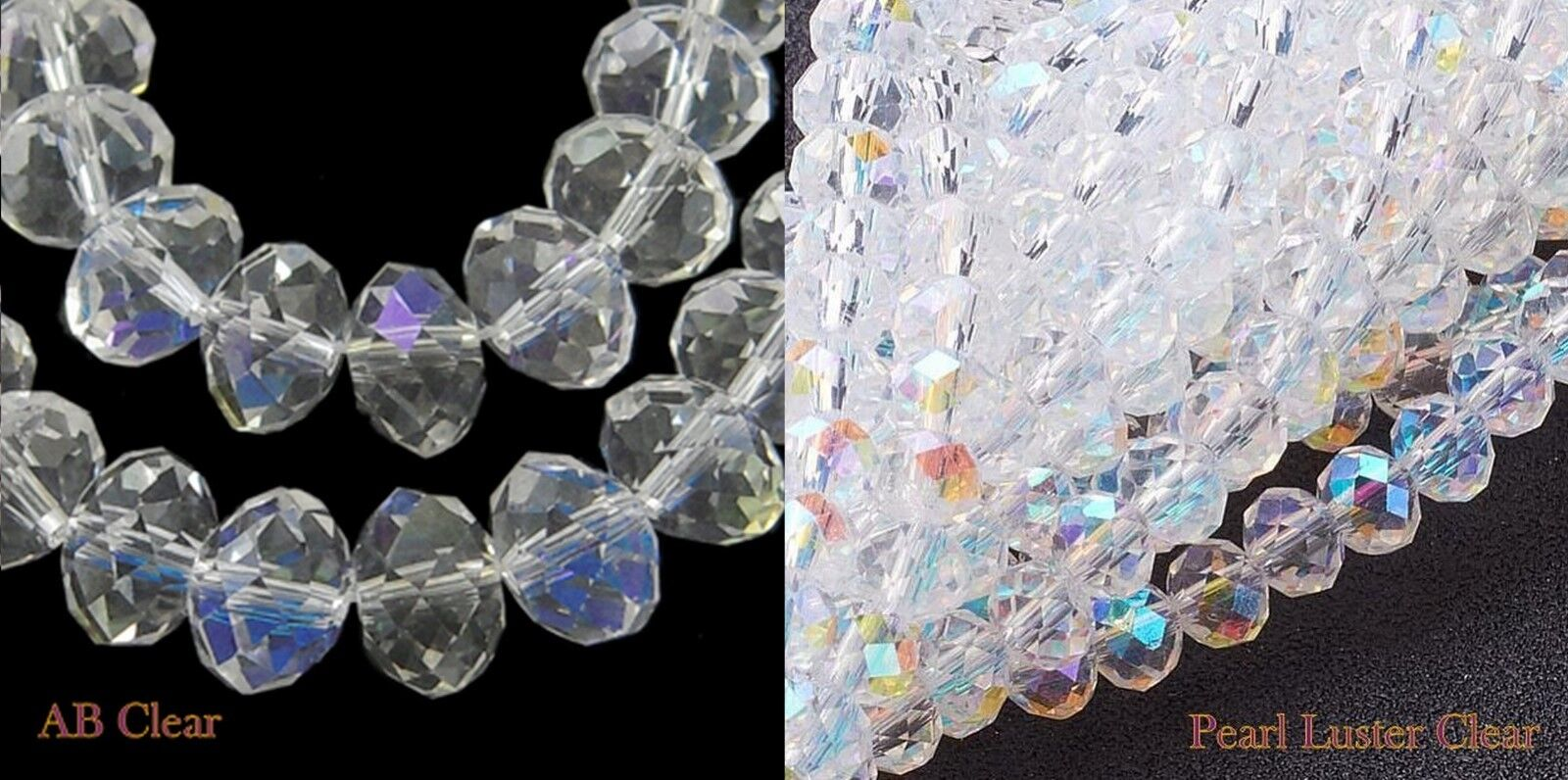 100 faceted silver clear glass window beads 7-8mm