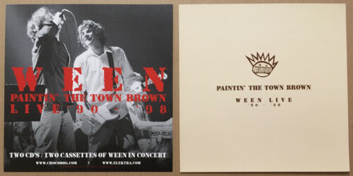 WEEN Ultra Rare 1999 DOUBLE SIDED PROMO POSTER FLAT for Paintin CD MINT 12x12 US