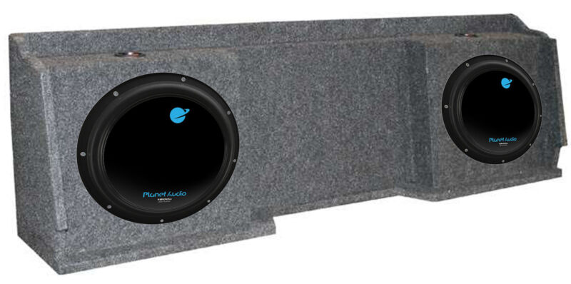 "2) Planet Audio AC12D 12"" 3600W Subs + GMC Chevy Silverado Ext Cab"