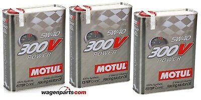 Aceite Motor MOTUL 300V Power 5W40, 6 Litros (Especial Tuning Rally Carreras)
