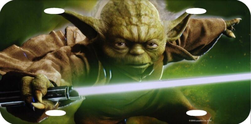 YODA Star Wars Grand Master of the Jedi Order Official Aluminum License Plate NW