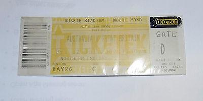 Australia v Great Britain 12th July 2002 Test Match @ Aussie Stadium, Ticket