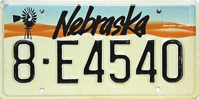 Nebraska   License Plate, Original Kennzeichen USA   8 E4540 ORIGINALFOTO
