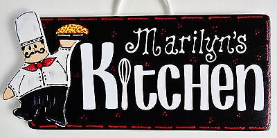 Personalize FAT CHEF KITCHEN SIGN Name Wall Plaque Cucina Bistro Italian Decor