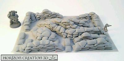 HC3D - Sandbags  - Terrain Scenery WarGames - 40k - 28mm