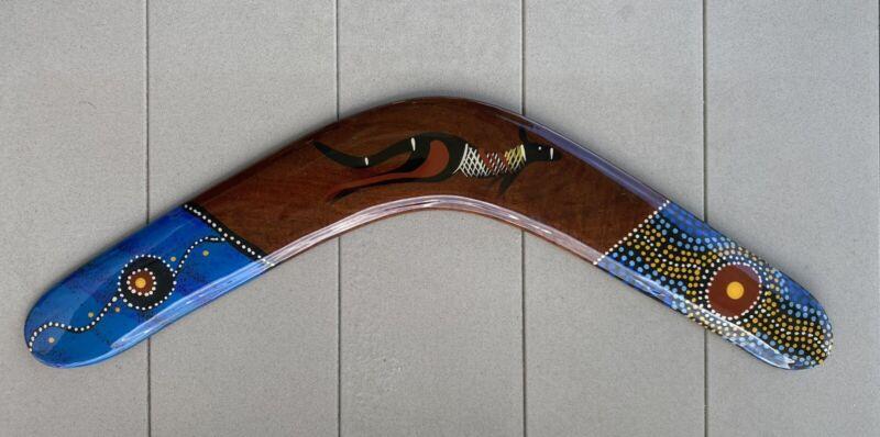 "Authentic Australian Aboriginal Art ""Wijikura"" Boomerang ..Made in Australia-23"""