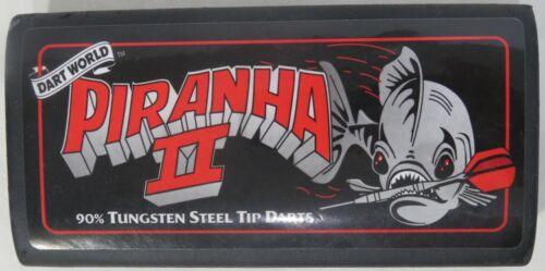 Piranha II Steel Tip Dart Set 22 gr 3D Flights 90% Tungsten Dart World Steel Tip