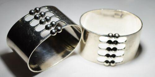 RARE! MATCH PAIR Theresia Hvorslev sterling silver MEMA Sweden napkin ring JL