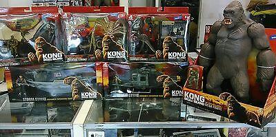 "KING KONG SKULL ISLAND COMPLETE LANARD TOYS 6 PIECE SET NIB 18"" FIGURE + 5 Pcs"