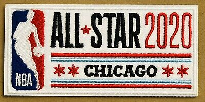 2020 All-Star Game Patch All Star Basketball Chicago Jersey Curry NBA Iron On comprar usado  Enviando para Brazil