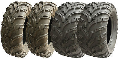 Set of 4 Quad Tyres 25X8-12 & 25X11-12 6ply E Marked road legal ATV extra wide for sale  Shipping to Ireland