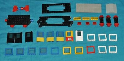 Vintage Lego Train 7710/7722/7819/7720 Spares Doors Windows wheels Bases 4.5V
