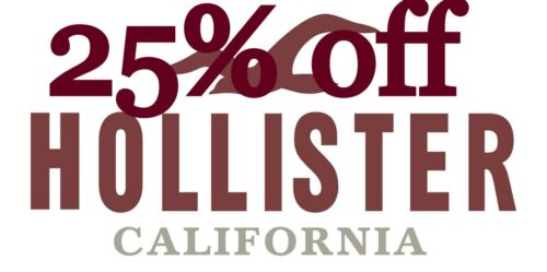 HOLLISTER Coupon Code 25% off $75 WORKS Jeans sale & clearance 9/1/2020