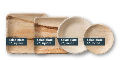 Palm Leaf Salad Plates - eco-friendly disposable tableware