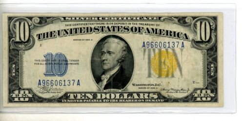 FR-2309 1934 A Series North Africa WWII $10 Ten Dollar Silver Certificate #6137