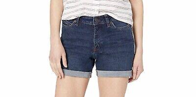 New Amazon Essential Womens Denim Shorts Sz 4 Blue Cuffed mid rise