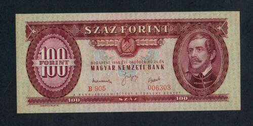 HUNGARY  100  FORINT 1949  PICK # 166  UNC.