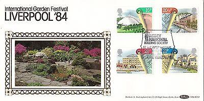 21072  Gb Fdc Abbey National  Liverpool Garden Festival   10 April 1984 Benham