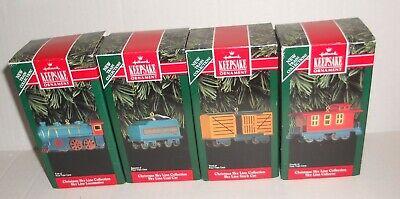 Hallmark Ornament-1992-Christmas Sky Line Collection-Whole Sky Line Train Set