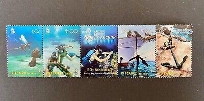 Pitcairn Islands 2007 Raising Bounty Anchor Se Tenant Strip set of 5 MNH