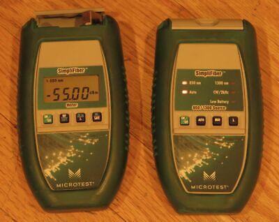 Microtest Simplifiber Meter 8501300 Fiber Optic Source