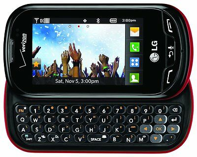 LG VN271 EXTRAVERT Cell Phone (VERIZON) QWERTY Camera Touch Red & Black PREPAID