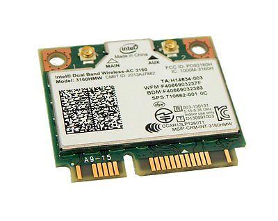 3160HMW Wireless 802.11ac Dual Band Wifi BT Card 710662-001 Better Than