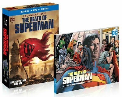 The Death of Superman Blu-ray+DVD+Graphic Novel+Digital Code Best Buy (Best Superman Graphic Novels)