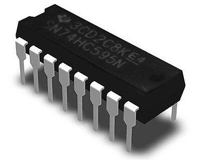 Texas Instruments Sn74hc595n 8-bit Serial-in 74hc 74hc595 Dip-16 Ic