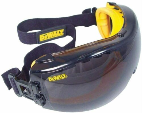 DeWalt DPG82-21 Concealer SMOKE/GRAYAnti-Fog Over Glasses Safety Goggles 1 Pair