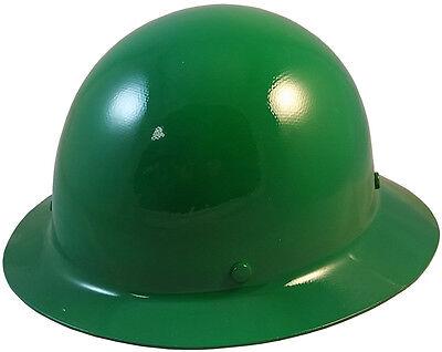 Msa Green Skull Gard Fiberglass Fb Hard Hat With Ratchet Or Pin Lock Susp