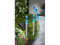 Set Of 5 Bubble Solar Lights Brand New Boxed (online shop)