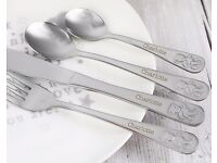 Teddy Cutlery Set - Personlised