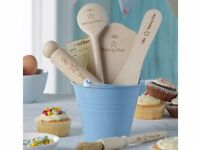 PERSONALISED CHILDRENS BAKING SETS - BLUE OR PINK