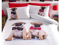 Pug Duvet Set - Double